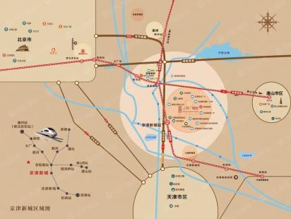 上京润园交通图
